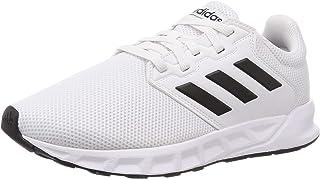 حذاء رياضي شبكي للجري شو ذا واي من اديداس للرجال مع شريط جانبي متباين ورباط
