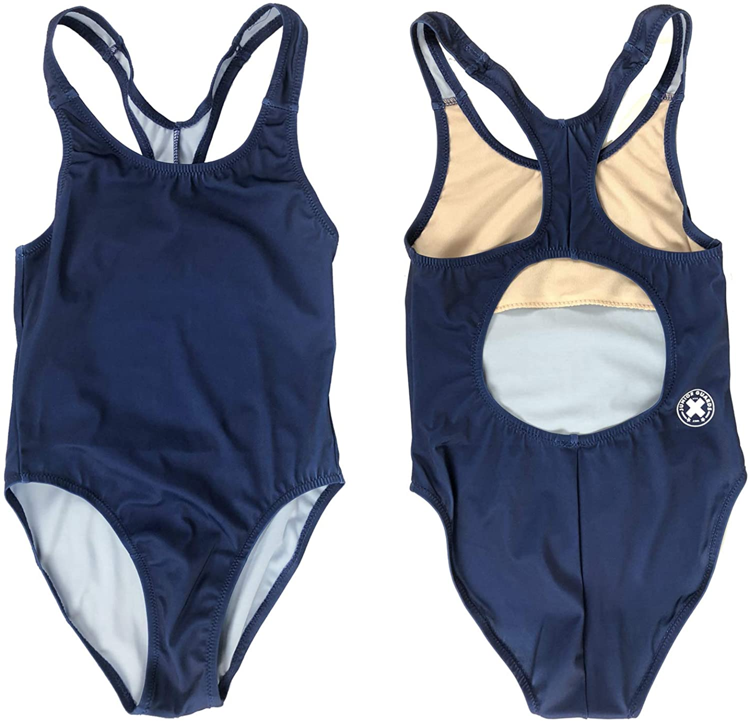 Girls Womens Junior Guard Superlatite One Year-end annual account Piece Red - and Swimsuit Navy