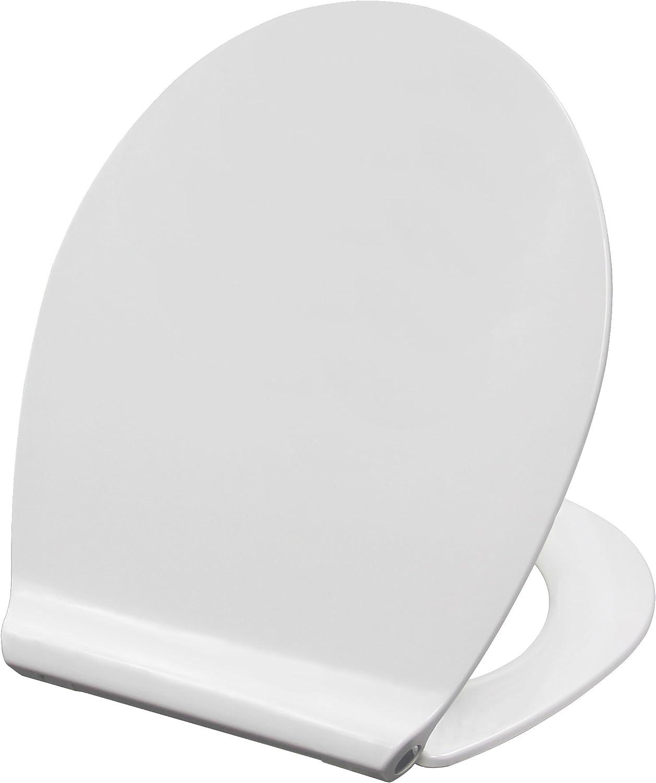 Grünblatt WC Sitz 515054, Modern Slim Design, Hochwertiges Material Duroplast, Soft-Close Take off Scharniere, weiß B07BHXJ23L
