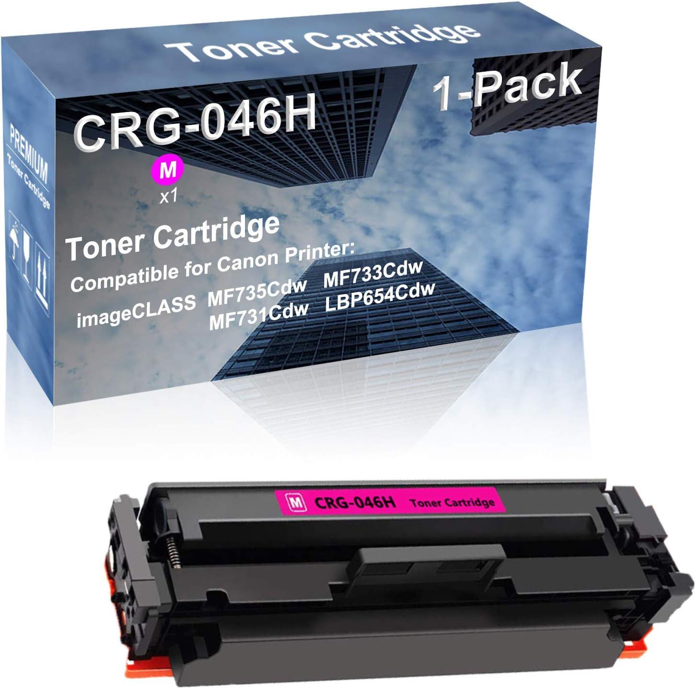 1-Pack (Magenta) Compatible Color imageCLASS MF735Cdw MF733Cdw MF731Cdw LBP654Cdw Printer Toner Cartridge High Capacity Replacement for Canon CRG-046H Toner Cartridge