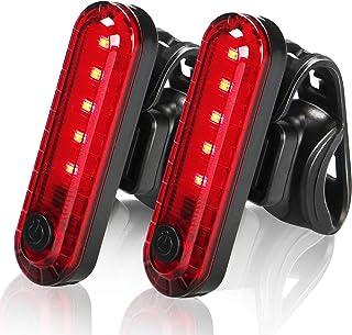 【2021 Upgraded Version】 LED Bike Tail Lights, USB Rechargeable Rear Bike Lights (2 Pack), Ultra...