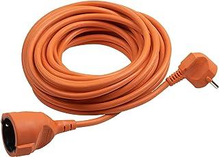 Meister Schutzkontakt-Verlängerung - 25 m Kabel - orange - Kunststoffleitung - IP20 Innenbereich / Kupplung mit Berührungsschutz / Schuko-Verlängerung / 7433250