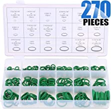 Glarks 18 Sizes 270Pcs Rubber O-Ring Car Auto Vehicle Repair Air Conditioning Compressor Seals Assortment Kit(Green)