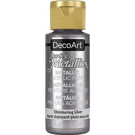 DecoArt Americana Acrylic Metallic Paint, Shimmering Silver