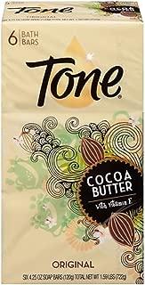 Tone Soap Bar Cocoa Butter, Original, 4.25-Ounce Bars, 6 Bars Per Pack (2 Packs)