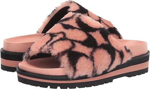 Light Pink/Black Shearling