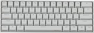 Obinslab Anne 2 Pro Mechanical Gaming Keyboard 60% True RGB Backlit - Wired/Wireless Bluetooth 4.0 PBT Type-c Up to 8 Hours Extended Battery Life, Full Keys Programmable (Gateron Red, White)