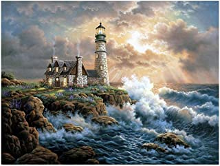 DIY 5D Resin Painting Kits Full Drill Diamond Embroidery Lighthouse Diamond Mosaic Crafts Home Decor