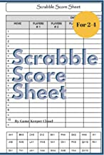 Scrabble Score Sheet: Scrabble Score Keeper For Record and Fun, Scrabble Game Record book For up to 4 Players , Scrabble Game Sheets For Board game words building