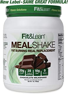 Fit & Lean Fat Burning Meal Replacement, Chocolate, 1 lb