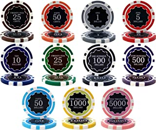 Eclipse 14gm Clay 1000 Bulk Poker Chips - Choose!