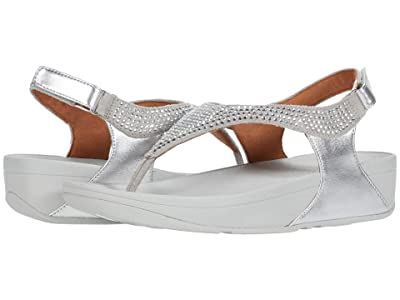 FitFlop Skylar Crystal Toe Thong (Silver) Women