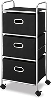 Whitmor 3 Drawer Rolling Cart - Home and Office Storage Organizer