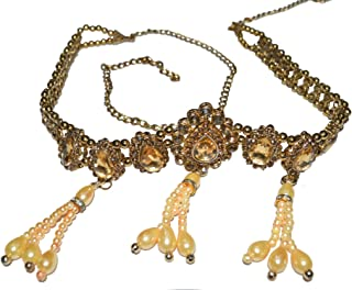 Jewels Kafe Kamar Bandh Gold Plated Antique Kundan Belly Chain Kamarband for Women