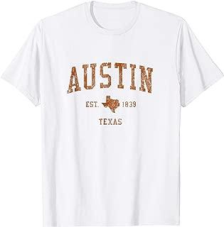 Austin Texas TX Vintage Athletic Sports Design Tee