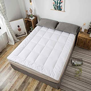 Asffdhley Colchón de Suelo Colchón de futón Transpirable Super Suave silencioso futón Muebles Suelo de Rolling Colchones (Color : White, Size : 90x200cm)