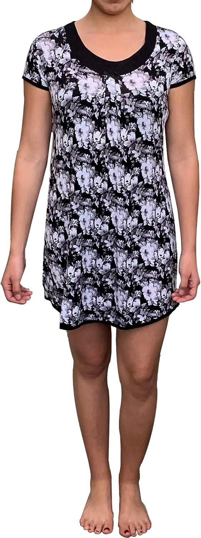 Popular Women's Sleepwear VNeck Print Sleep Shirt Nightgown  Sizes S Thru 3X