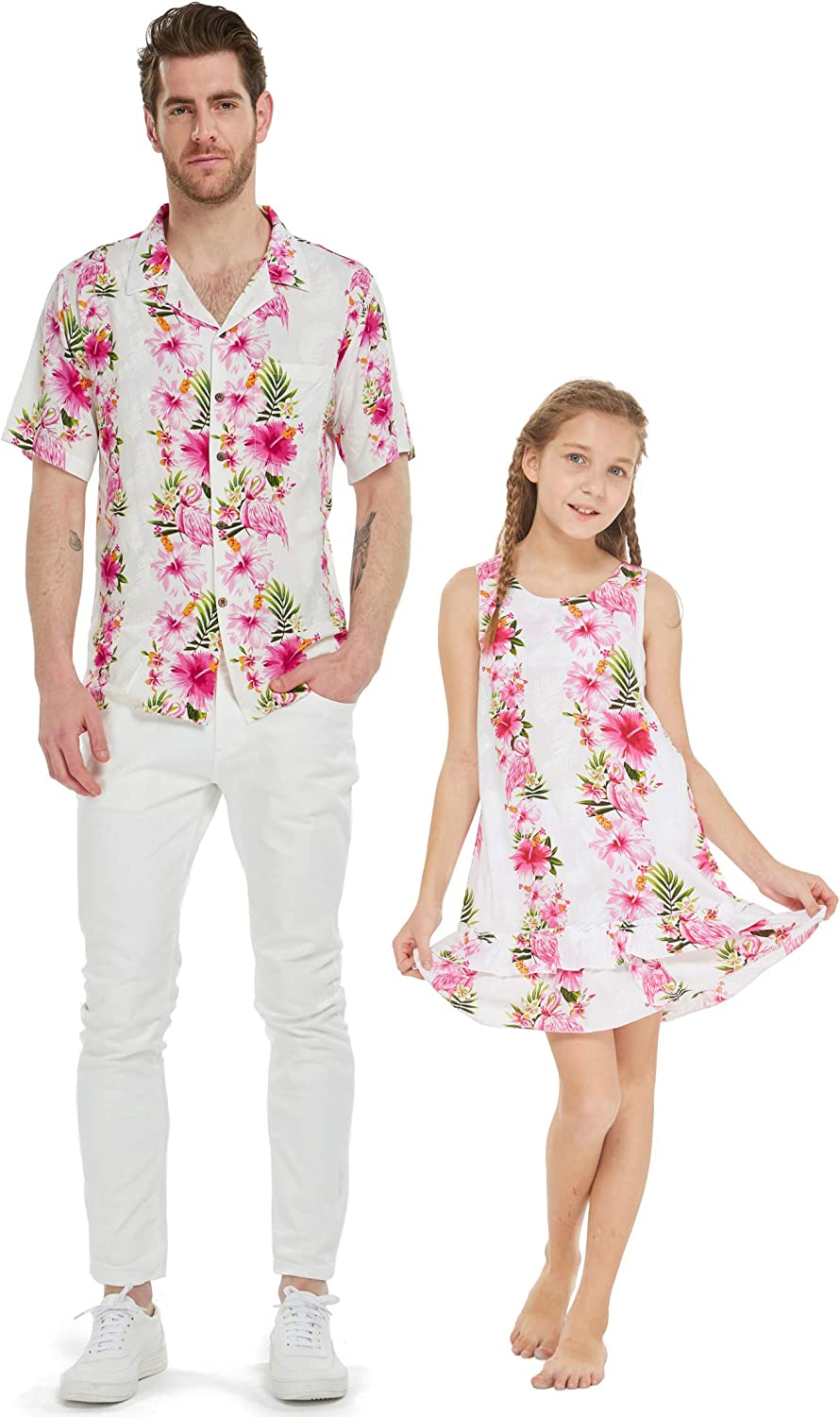 Matching Father Directly managed store Daughter Hawaiian Dance Tank C Wispy Shirt New mail order Dress