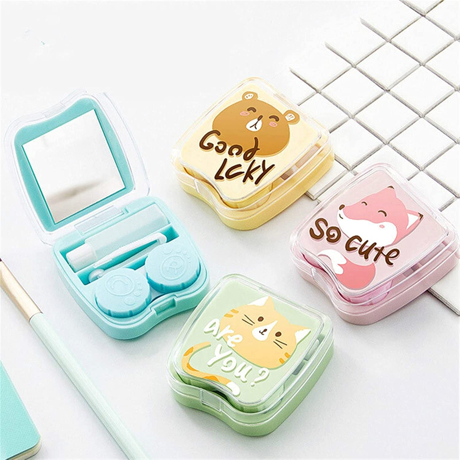 LUBINGT Contact Lens Case Mirror Cartoon Courier shipping free shipping Cases 5% OFF with