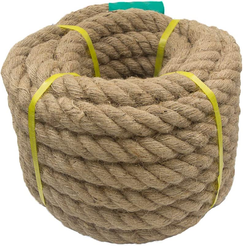 Aoneky Jute Rope Our shop OFFers the best service - 1.18 1.5 Twisted Hemp for Inch 2021 new Crafts C
