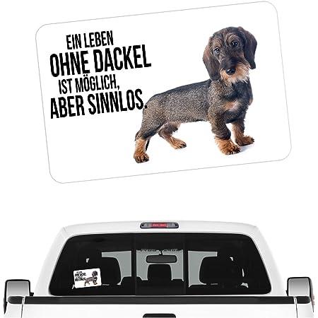 Siviwonder Auto Aufkleber Jagdhund Digi Dackel Rauhaar Rauhaardackel Hundeaufkleber Jagd Auto
