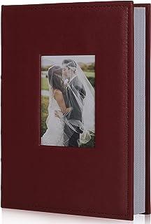 RECUTMS 4x6 Photo Album 300 Pictures Sewn Premium Leather Cover Memo Recording Family Photo Album Wedding Picture Albums A...
