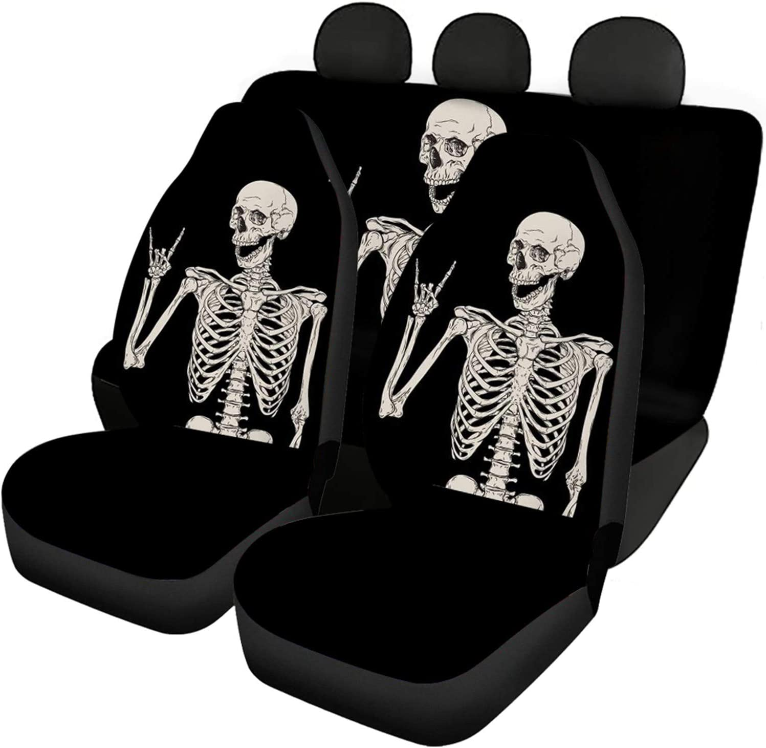 Belidome Skeleton Skull Seat Covers Elegant Vehicles Arlington Mall for Protector I Car