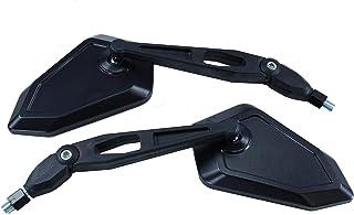 Universal Motorrad Rückspiegel Spiegel Set, e geprüft (schwarz, 2X M10 Rechtsgewinde)