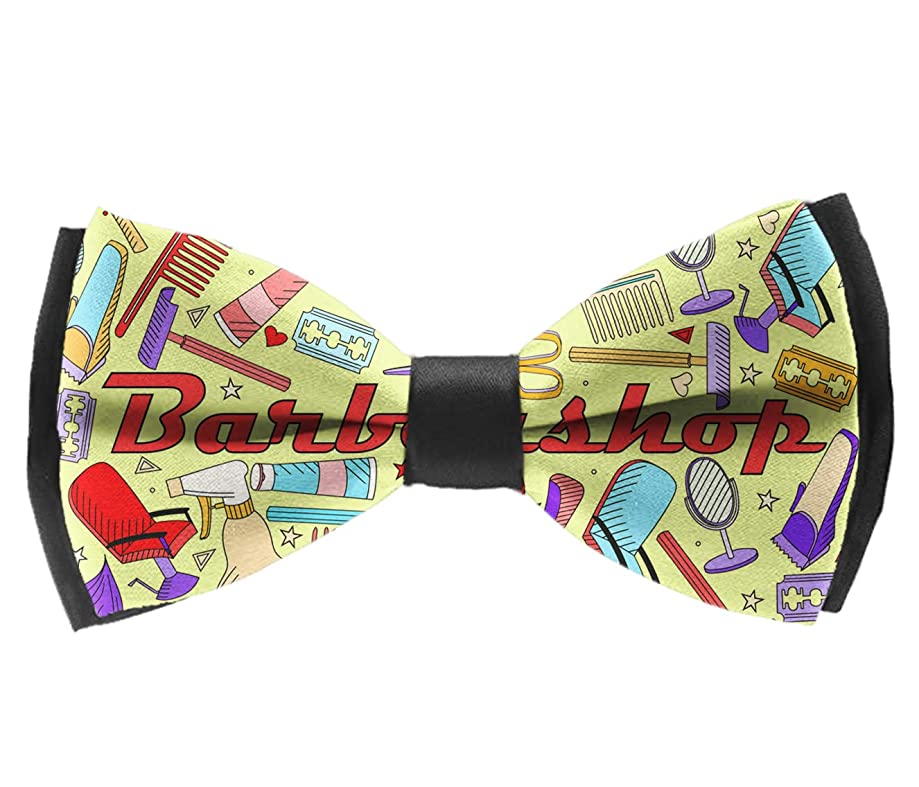 Casual and Formal Pre Tied Bow Tie, Music Festival Rave Party Butterfly Bow Tie
