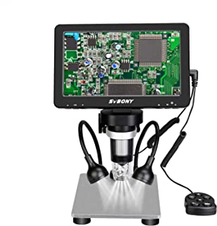 SVBONY SV604 1200x Microscope 7-inch High-definition Display, Wired Remote Control, Video Recorder with Camera, Applicable...