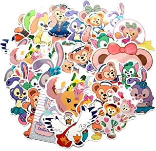 Ratgoo Random Sticker Pack for Duffy Bear,30 Pcs Non-repetitive Appliques,Difficult to Fade,Long Lifetime,Ideal Decals for Your Water Bottle,iPhone,Laptop,Bike,Guitar and More.Show Your own Style.