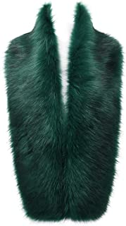 Women's Winter Faux Fox Fur Collar Long Scarf Wrap Shawl Shrug