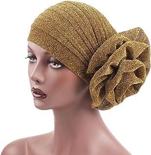 4b2b1d1ccc8911 🌼LIULIULIU🌼Women India Muslim Stretch Bright Thread Floral Turban Hat  Head Scarf Wrap Cap