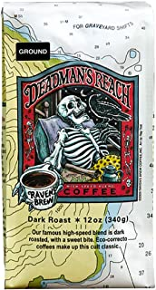 Raven's Brew Ground Coffee 12 oz - Dark Roast - High Speed Blend with a Sweet Bite (Deadman's Reach)