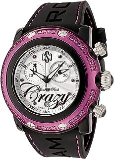 Glam Rock - Reloj de Silicona para Mujer GR60100 Miami Beach Collection cronógrafo Rosa topacio Negro