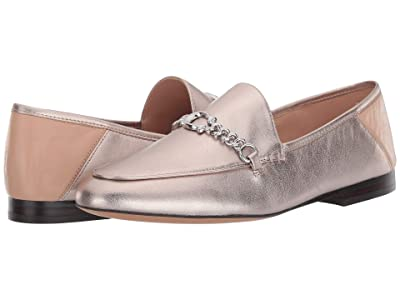 COACH Helena C Chain Loafer (Platinum Champagne Metallic Leather) Women