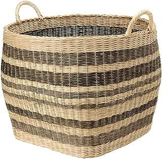 KOUBOO 1060042 Large Striped Wicker Storage Basket, 26.5