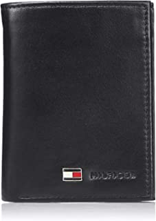 Tommy Hilfiger Men's Genuine Leather Oxford Slim Trifold Wallet