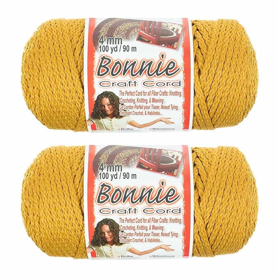2 Pack Bonnie Macramé Cord – 4mm – 100 yd Lengths (Gold)
