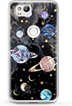 Cavka TPU Phone Case for Google Pixel 2 XL 3 XL 3a XL 4 XL New Cover 2019 Print Space Colorful Flexible Lightweight Beautiful Saturn Smooth Planets Black Design Clear Gift Soft Slim fit Kid Marble