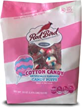 Red Bird Cotton Candy Puffs, 30 oz bag | Made w/100% Pure Cane Sugar | Melt-in-Your-Mouth Candy | Allergen-Free, Gluten-Free, Kosher and Individually Wrapped