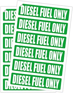 12 Pack DIESEL FUEL ONLY Decals / Labels / Markers / Weatherproof and Chemical Resistant Stickers