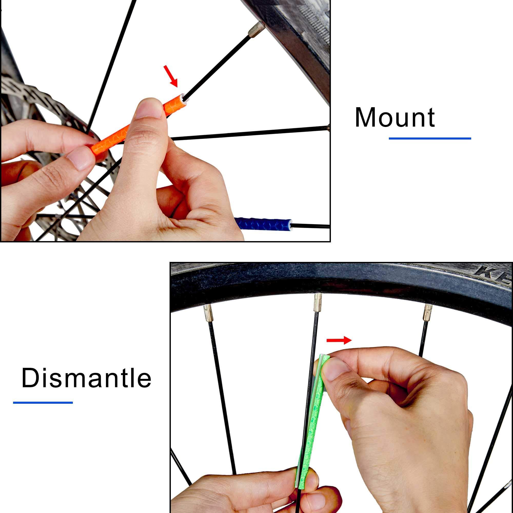 12Pcs Bicycle Mountain Bike Riding Wheel Rim Spoke Clip Reflector Warning HU89