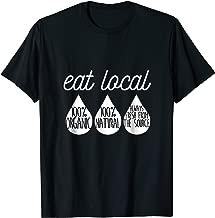 Funny Breastfeeding Tshirt Nursing Mom Awareness Eat Local