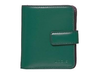 Lodis Accessories Audrey RFID Card Case Petite Wallet (Ivy/Deep Plum) Bi-fold Wallet