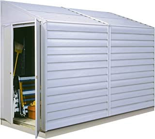 Arrow Yardsaver Compact Galvanized Steel Storage Shed with Pent Roof, 4' x 10'