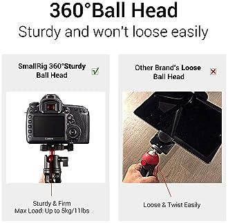 SMALLRIG Tabletop Tripod, Mini Desktop Travel Tripod Aluminum Alloy with 360 Degree Ball Head and Quick Release Plate...