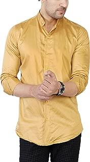 U TURN Men's Cotton Solid Casual Shirt