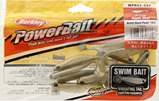 Berkley MPRS3-GBP Power Bait Ripple Shad Swim Bait, Green Back Pearl, 3-Inch