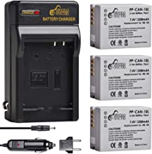 Pickle Power NB-10L Battery(3 Pack) and Charger Compatible with Canon NB-10L, CB-2LC and Canon PowerShot G1 X, G15, G16, SX40 HS, SX50 HS SX60 HS Digital Cameras
